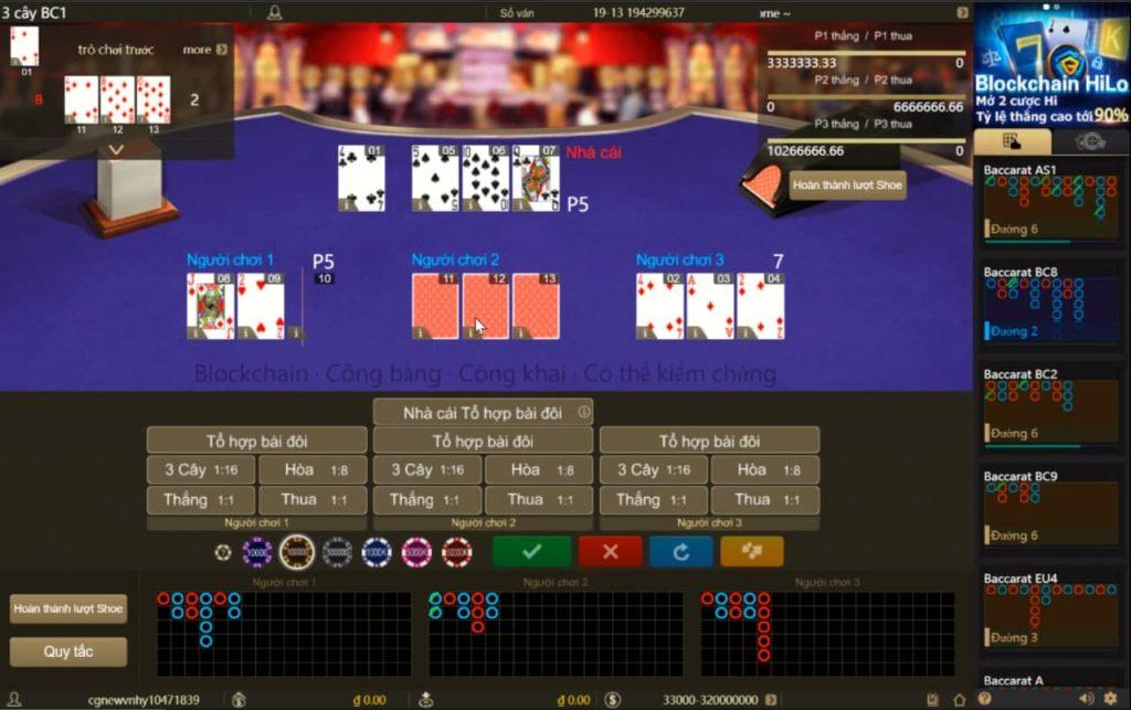 game bài 3 cây online tiền thật